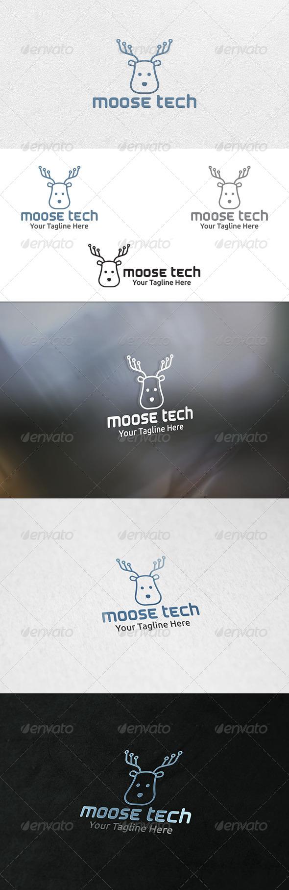 Moose Tech - Logo Template - Animals Logo Templates