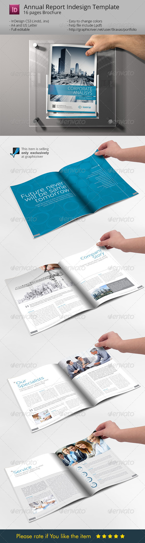 Sharp and Clean Annual Report Brochure - Informational Brochures
