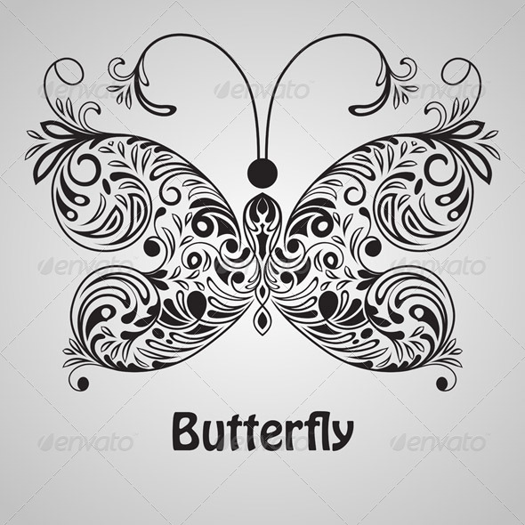 Vector butterfly - Animals Characters