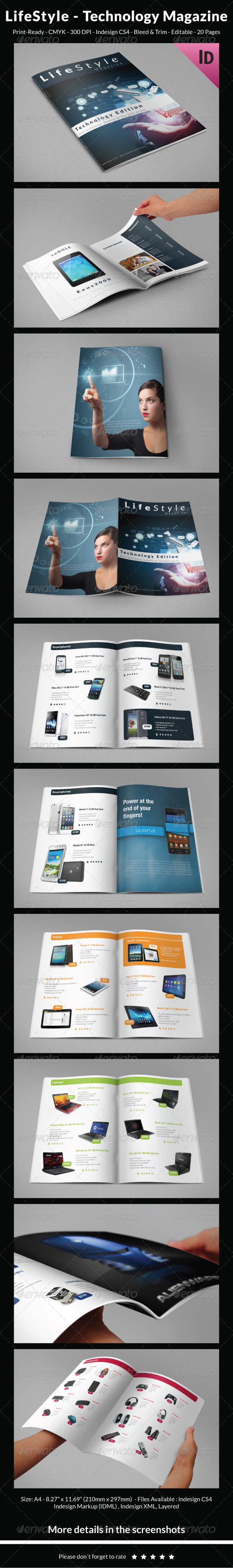 LifeStyle – Technology Magazine - Magazines Print Templates