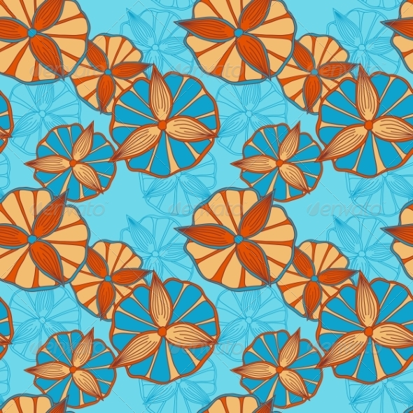 Seamless Spring Pattern - Flowers & Plants Nature