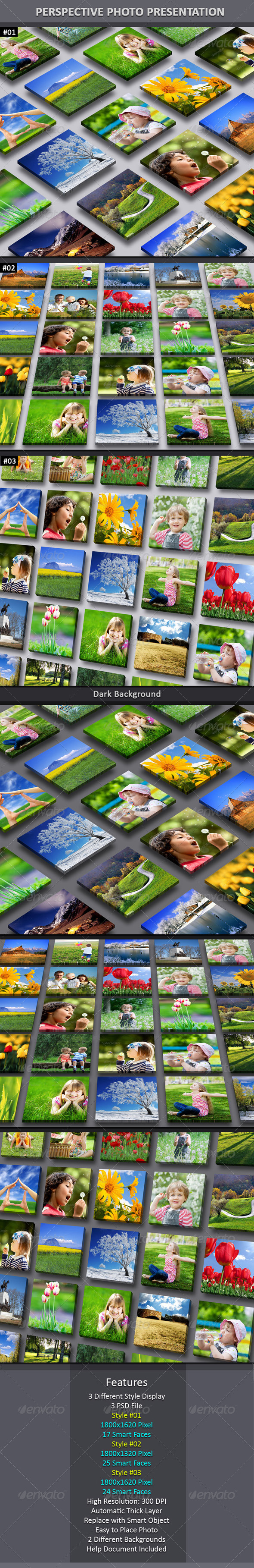 Perspective Photo Presentation - Miscellaneous Photo Templates