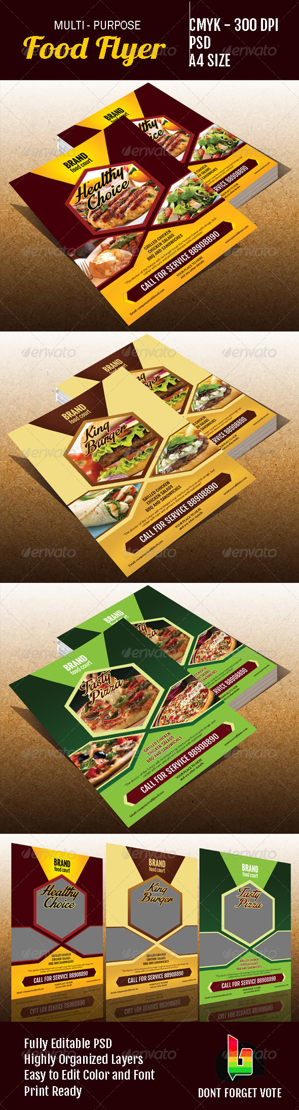 Multipurpose Food Flyer - Restaurant Flyers