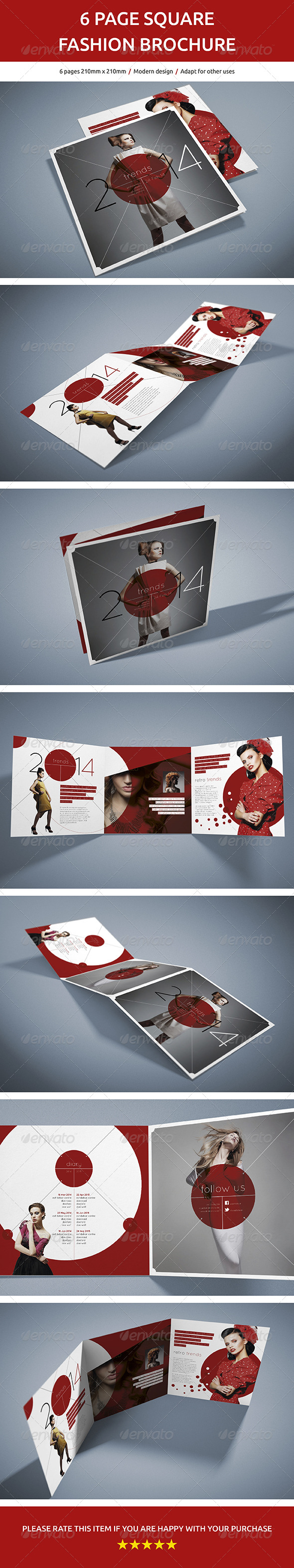 6 Page Square Fashion Brochure - Brochures Print Templates
