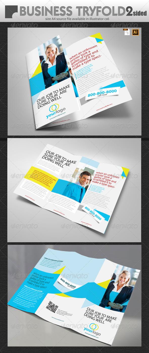 Business Tri Fold Design  - Brochures Print Templates