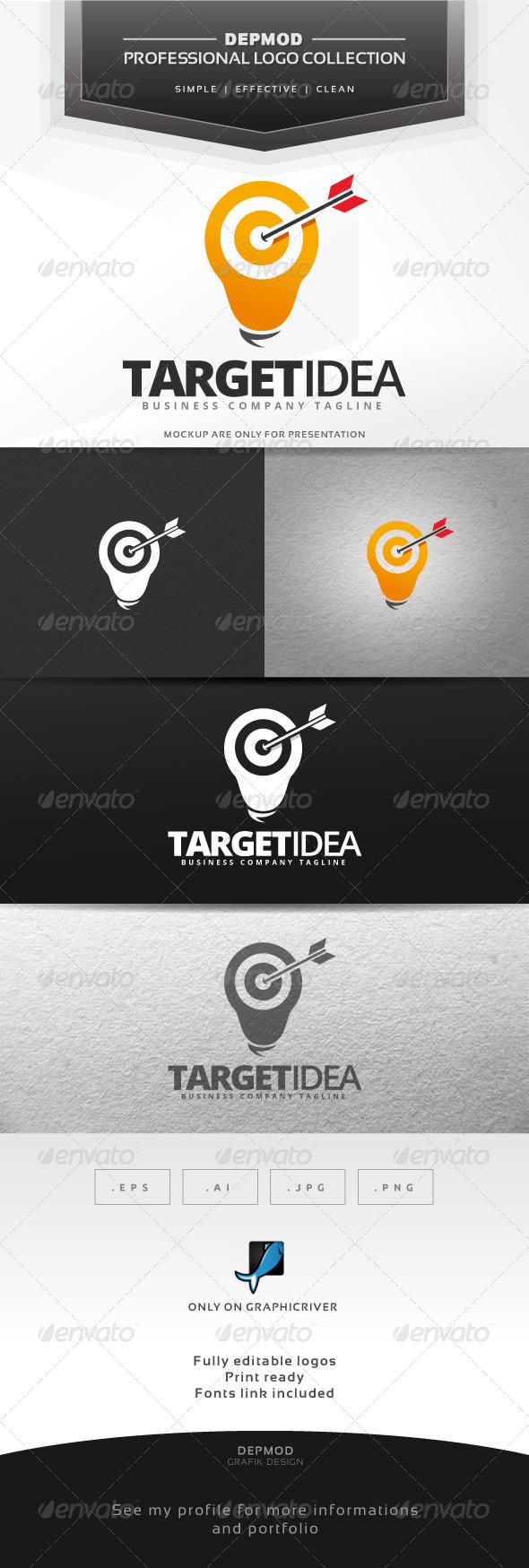 Target Idea Logo - Symbols Logo Templates