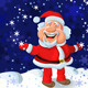 Happy Santa Claus on the Background of Snow - GraphicRiver Item for Sale