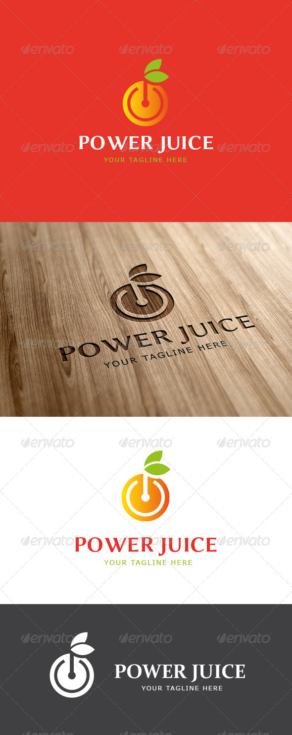 Power Fruit Logo Template - Food Logo Templates