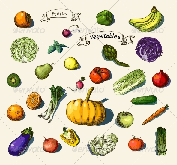 Fruits and Vegetables - Food Objects