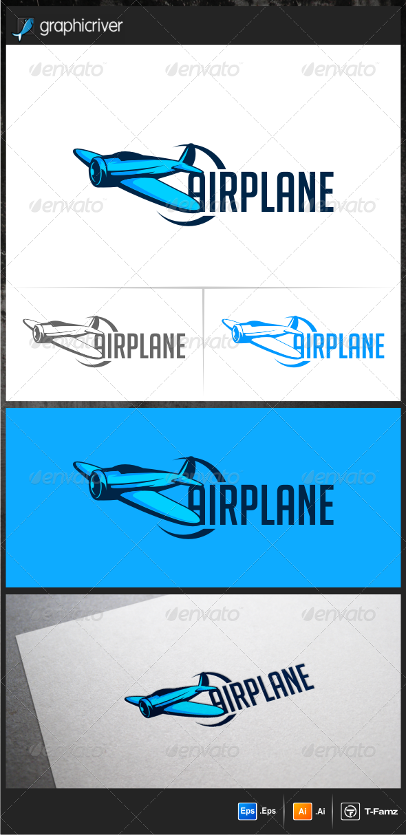 Air Plane Logo Template - Objects Logo Templates