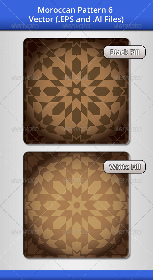 Moroccan Pattern 6 - Decorative Vectors