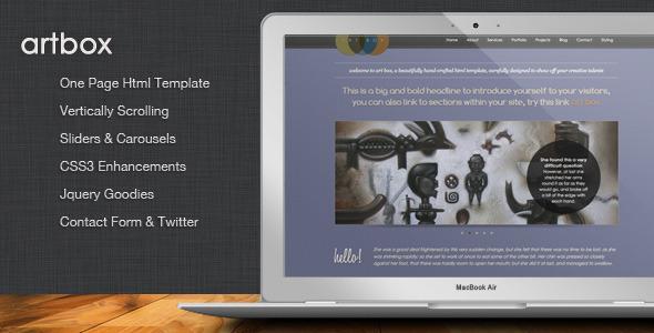 ArtBox – Creative Scrolling Portfolio Template