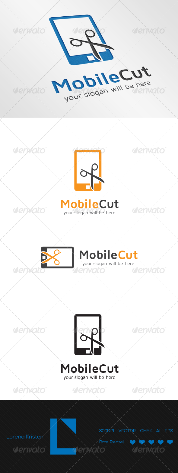 Mobile Cut - Objects Logo Templates