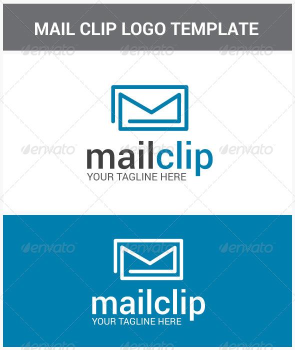 Mail Clip Logo - Objects Logo Templates