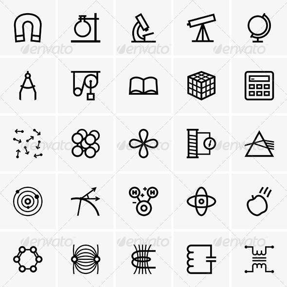 Science Icons - Decorative Symbols Decorative