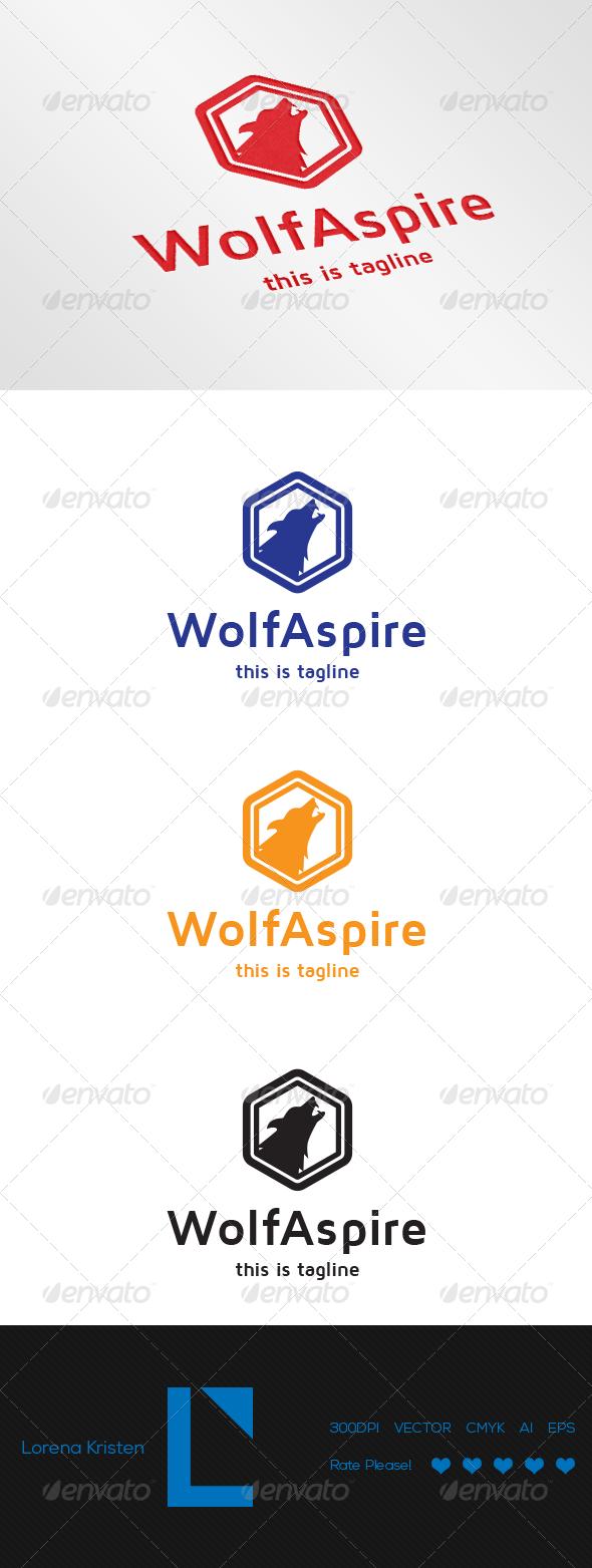 Wolf Aspire - Animals Logo Templates
