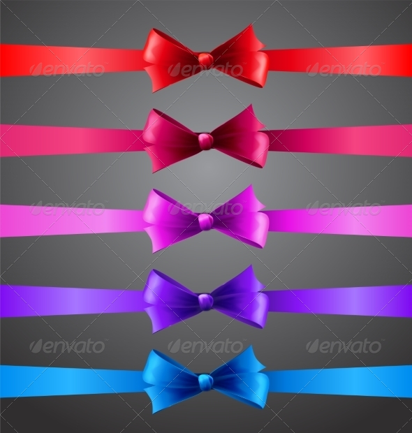 Ribbons with Bows - Miscellaneous Vectors