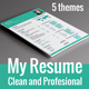 5 Piece My Resume  - GraphicRiver Item for Sale