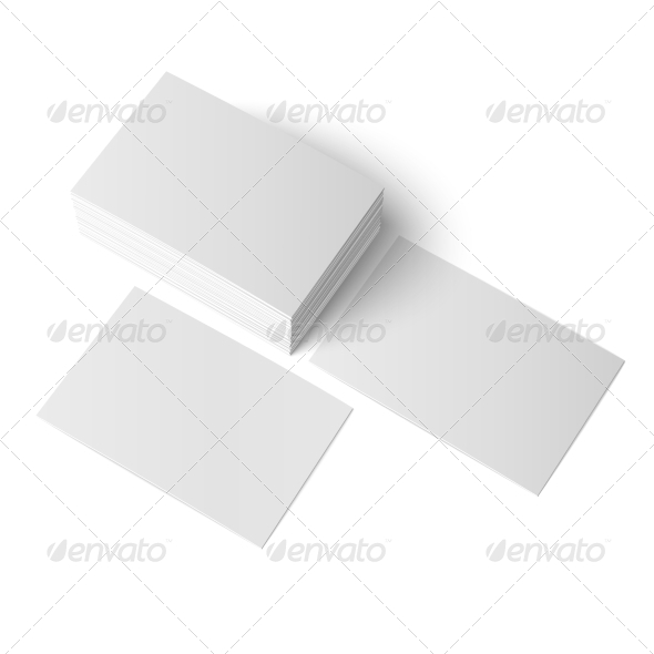 Stack of Blank Business Cards - Man-made Objects Objects