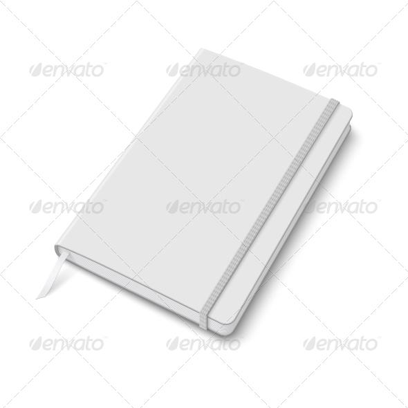 Blank Copybook Template with Elastic Band - Man-made Objects Objects