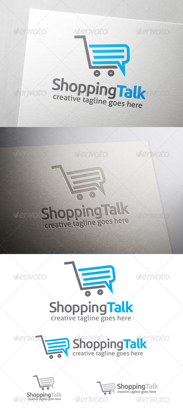 Shop Talk Logo - Objects Logo Templates