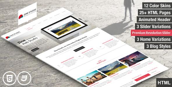 Zine- Responsive Parallax Business HTML5 Template