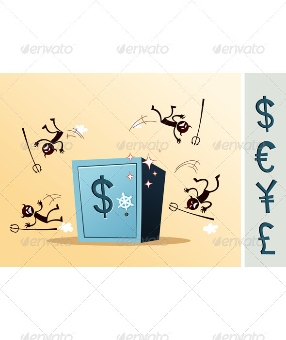 Safe Deposit Box Protected From Thief - Concepts Business