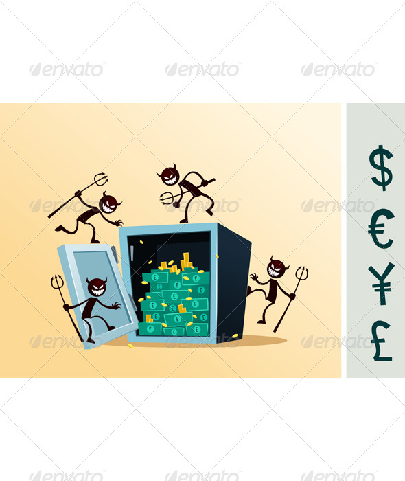 Safe Deposit Box Damaged by Thief - Concepts Business