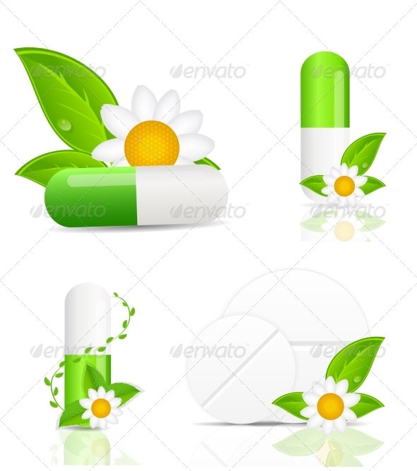 Herbal Pills - Decorative Symbols Decorative