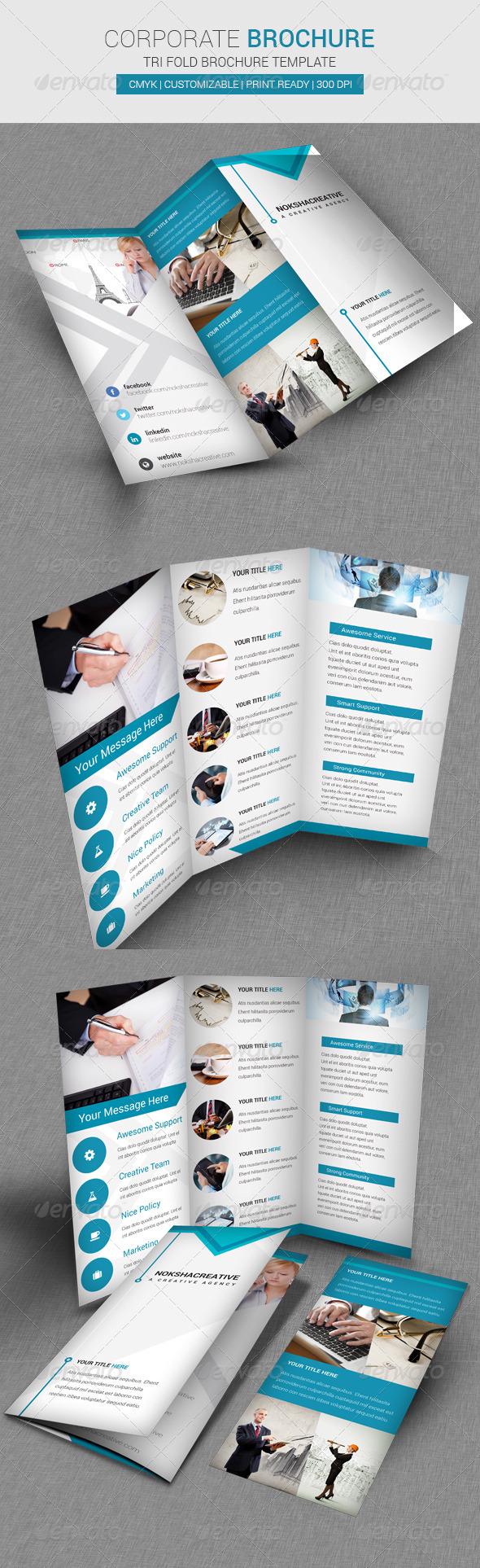 Corporate Tri Fold Brochure Template - Corporate Brochures