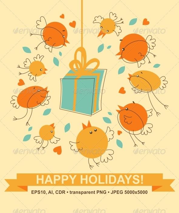 Bird's Gift - Seasons/Holidays Conceptual
