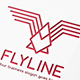 Fly Line Bird Logo - GraphicRiver Item for Sale