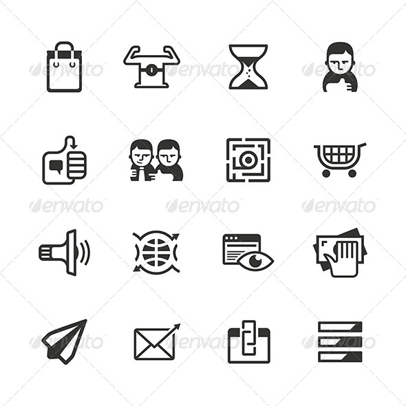 16 Content Marketing Icons - Web Icons