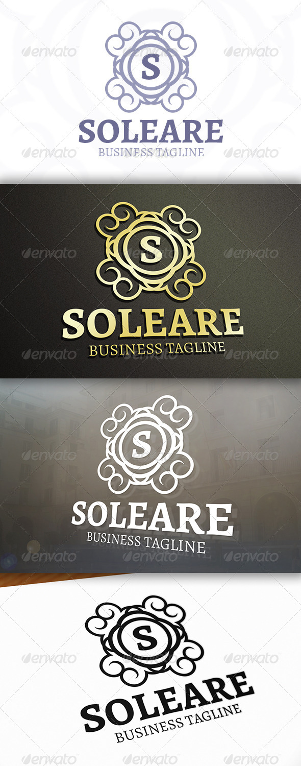 Soleare Logo - Crests Logo Templates