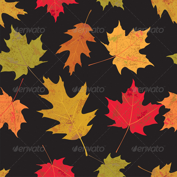 Colorful Tileable Vector Autumn Leaves - Seasons/Holidays Conceptual