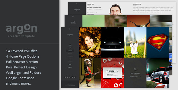 Argon – Creative PSD Template