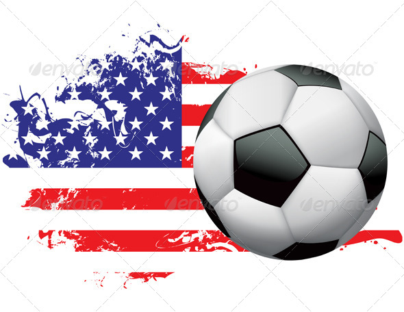 United States Soccer Grunge Design - Sports/Activity Conceptual