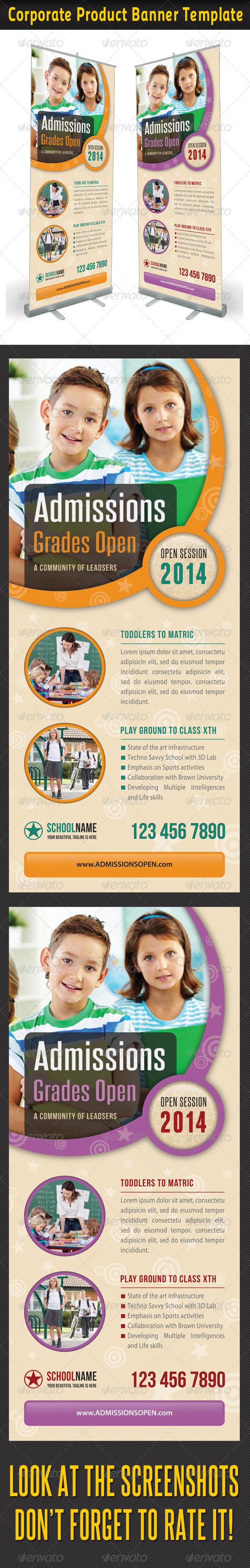 Junior School Promotion Banner Template - Signage Print Templates