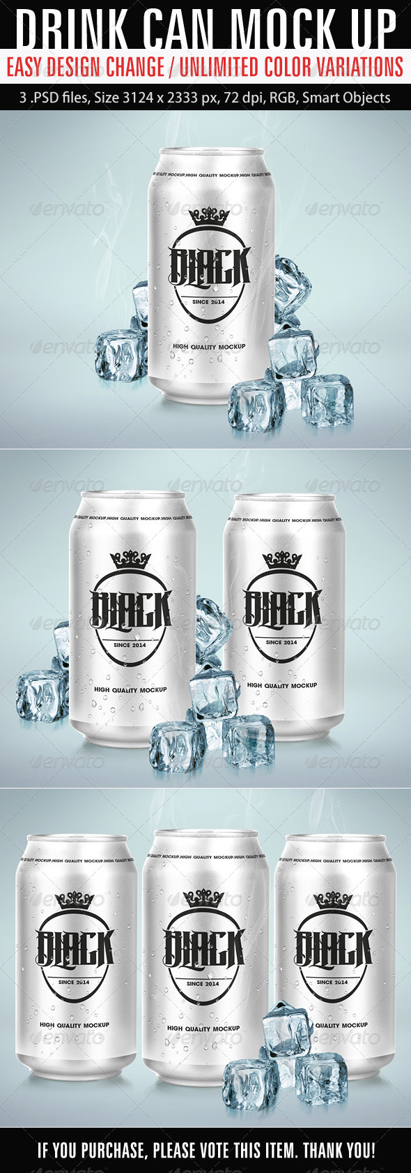 Drink Can Mockup - Product Mock-Ups Graphics