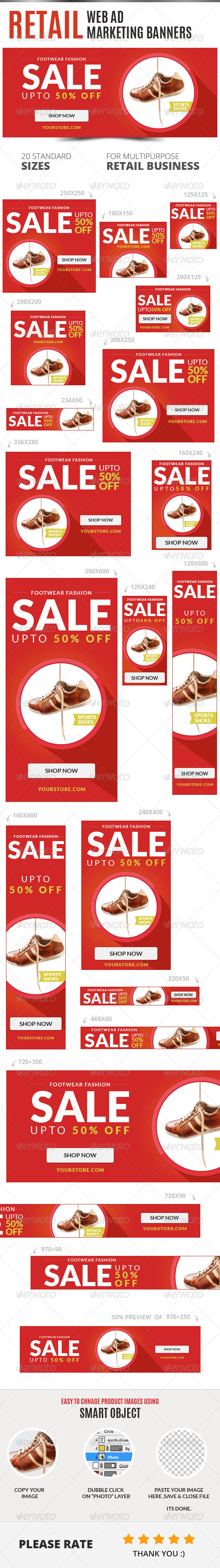 Retail Web Ad Marketing Banners - Banners & Ads Web Elements