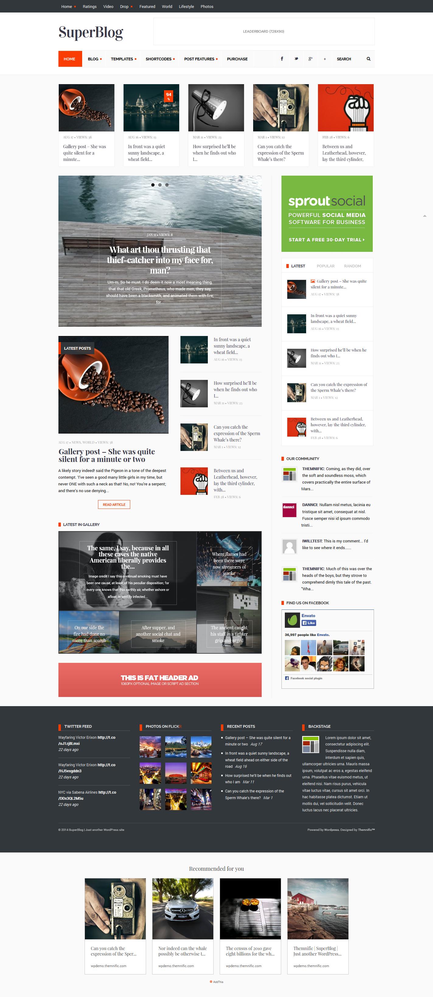 SuperBlog - Powerful Blog & Magazine Theme by Dannci   ThemeForest