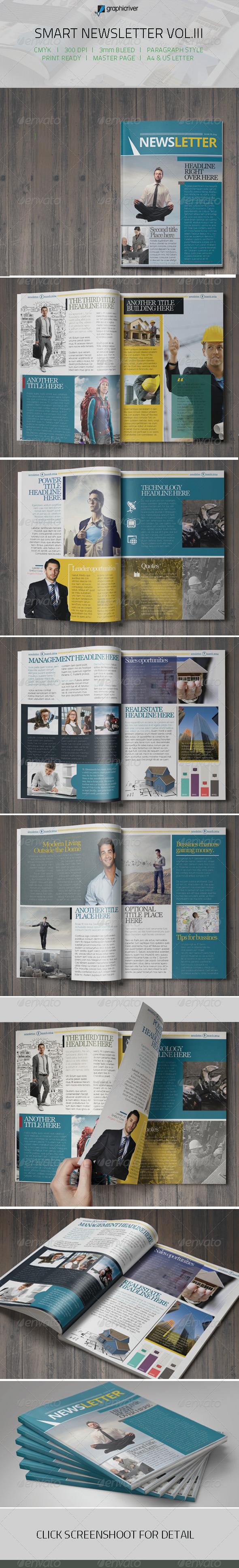 Smart Newsletter Vol.III - Newsletters Print Templates