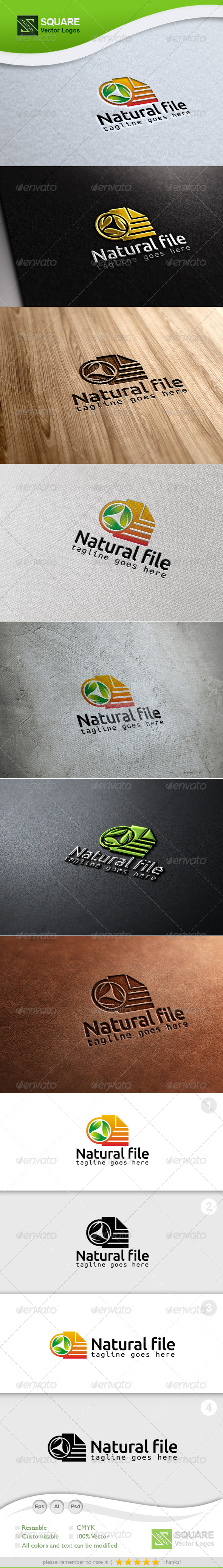 Leafs, File Vector Logo Template - Nature Logo Templates