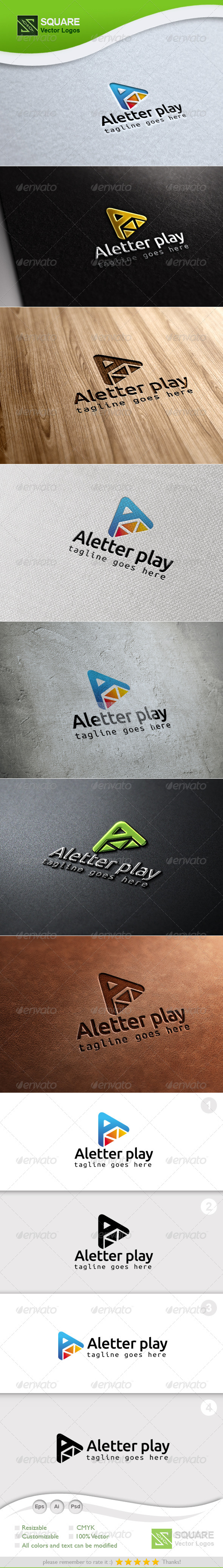 A, Play Vector Logo Template - Letters Logo Templates
