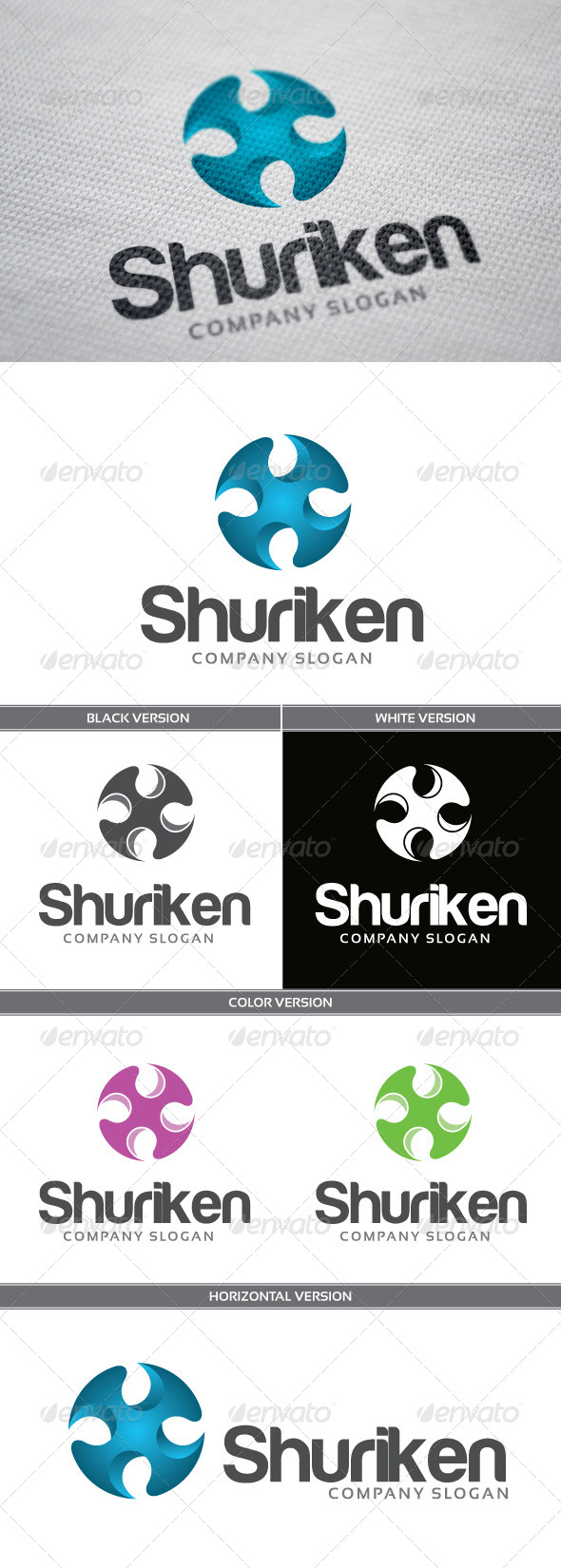 Shuriken - Objects Logo Templates