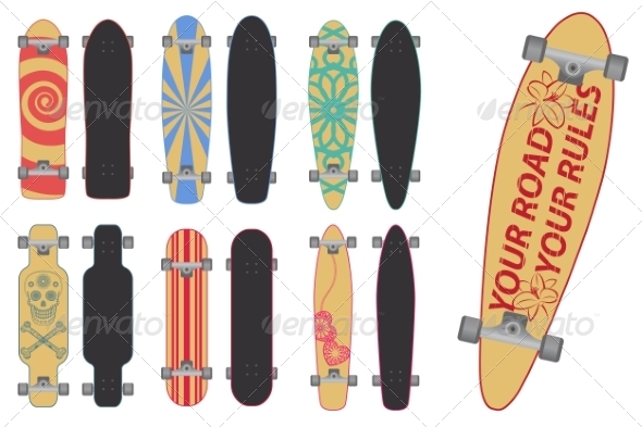 Skateboards and Longboards - Sports/Activity Conceptual