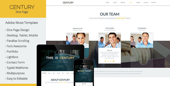 Century – Multi-Purpose Muse Template