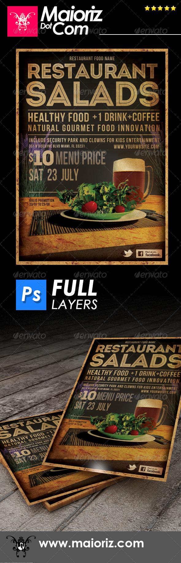 Restaurant Salads Flyer - Restaurant Flyers