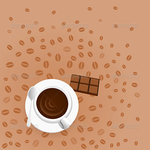 Coffee with Chocolate - Man-made Objects Objects