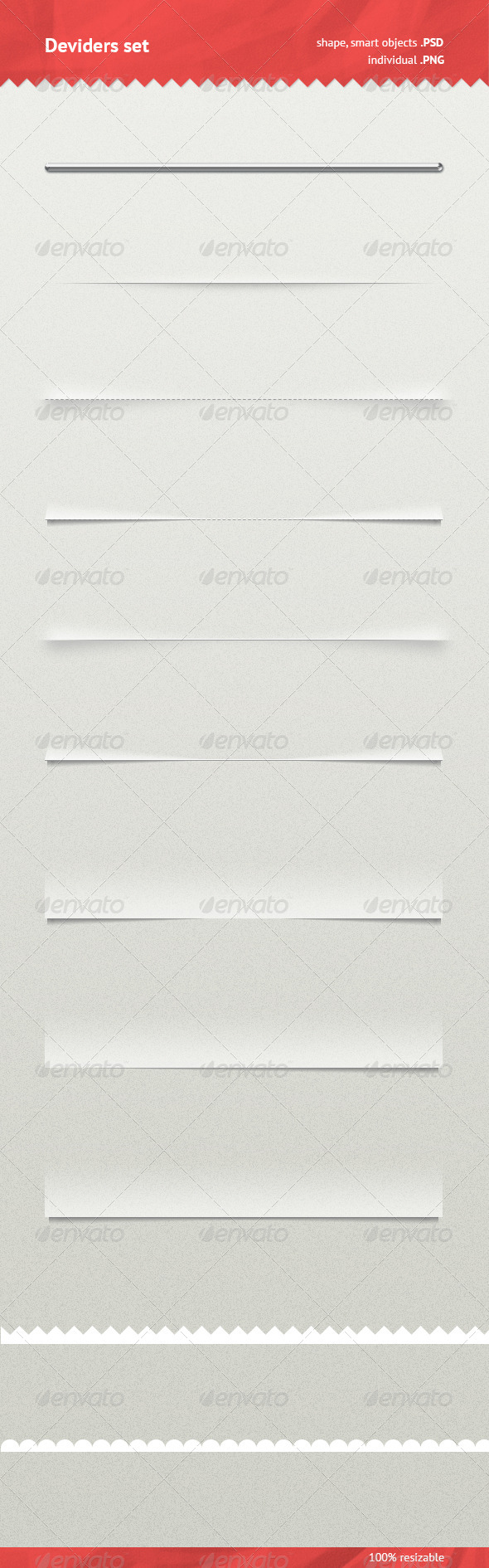 Dividers Set - Miscellaneous Web Elements